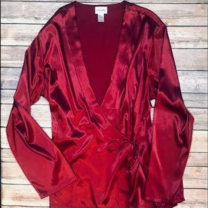 CHICOS beautiful wrap kimono style blouse